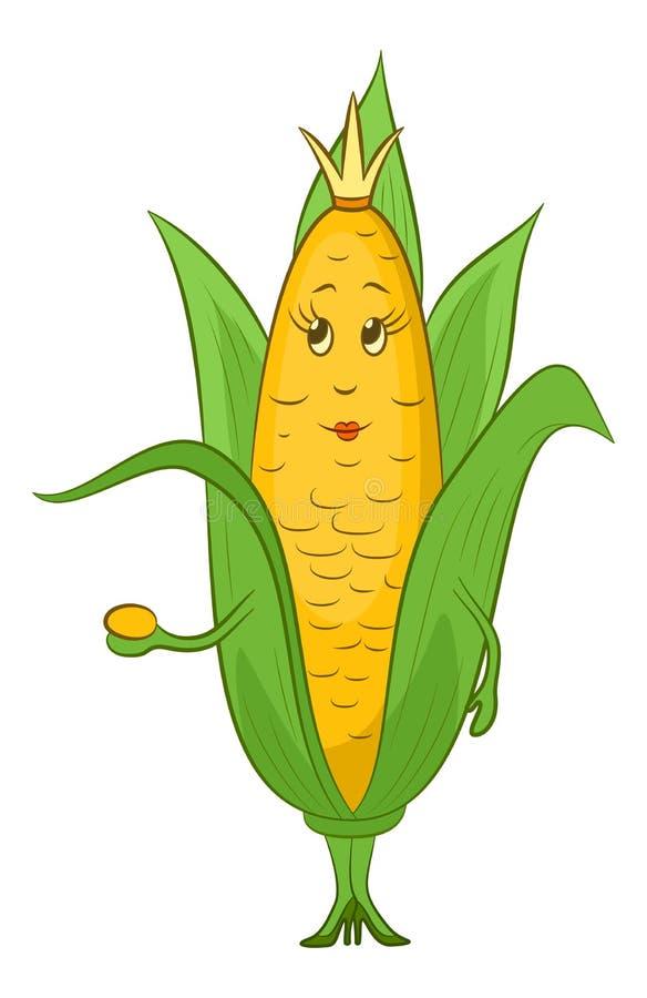 玉米字符 向量例证