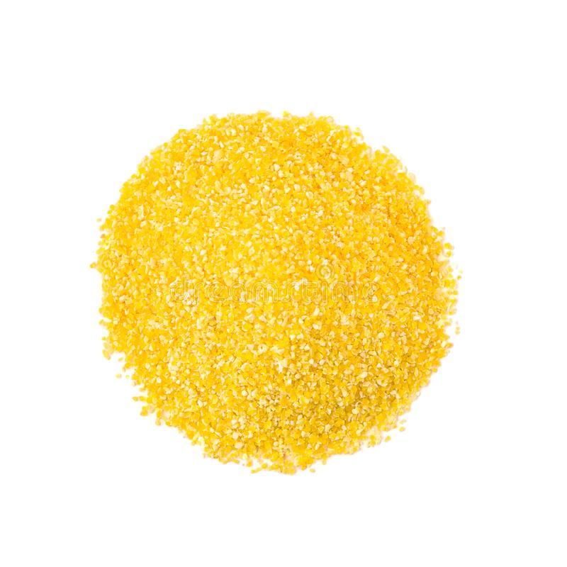 玉米或玉米沙粒顶视图  库存照片