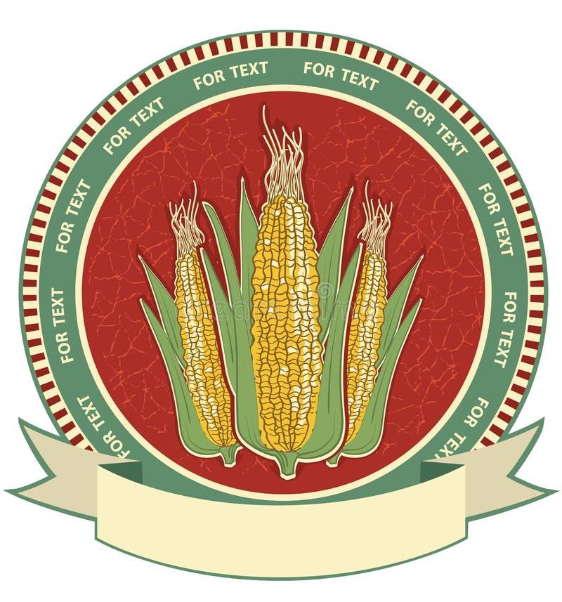 玉米标签。向量减速火箭的图象 库存例证