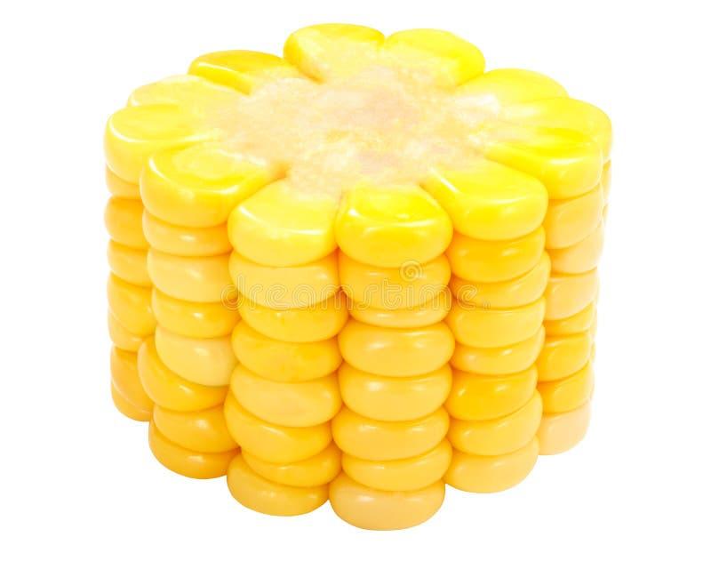 玉米棒子,道路片断  免版税库存图片