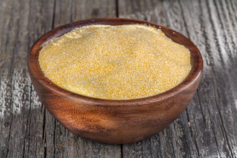 玉米渣麦片粥 库存图片