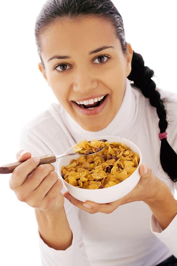 玉米片吃 库存图片