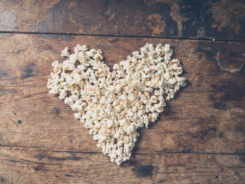 玉米花心脏 库存照片