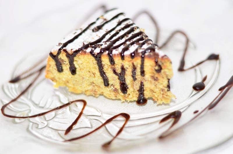 玉米蛋糕片断  免版税库存图片