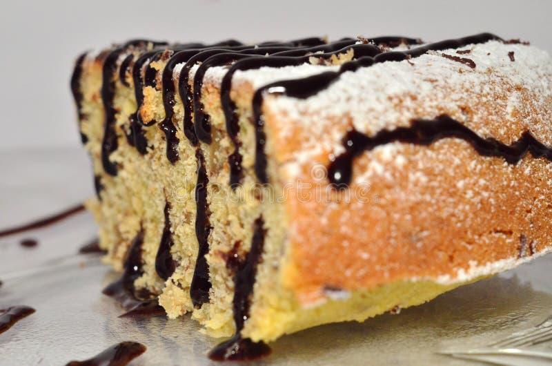 玉米蛋糕片断  免版税库存照片