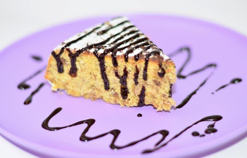 玉米蛋糕片断  库存图片