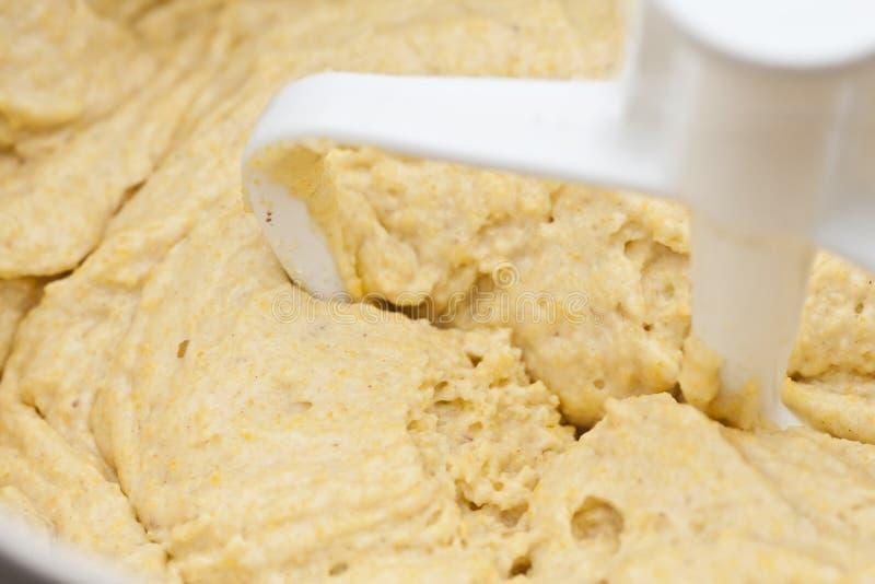 玉米面包面团 库存图片