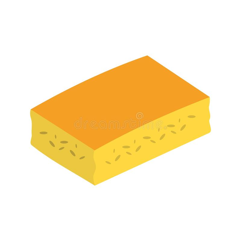 玉米面包 向量例证