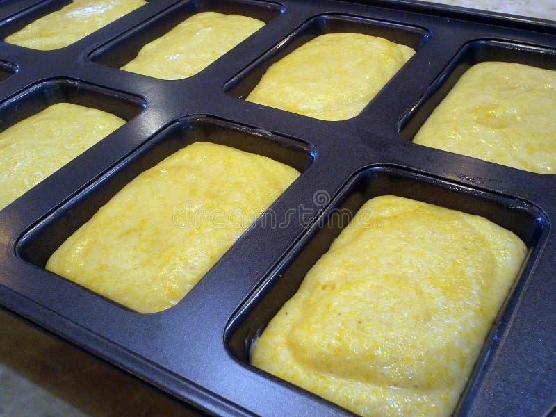 玉米面面包松饼 图库摄影