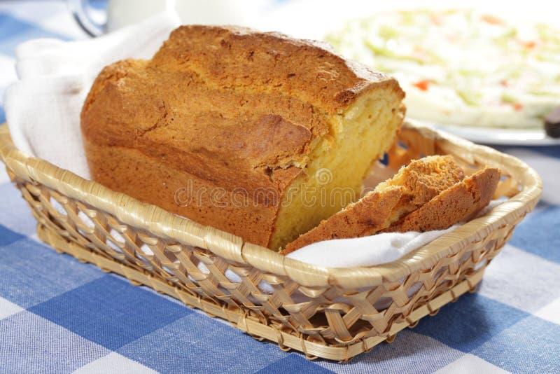 玉米面面包 库存照片