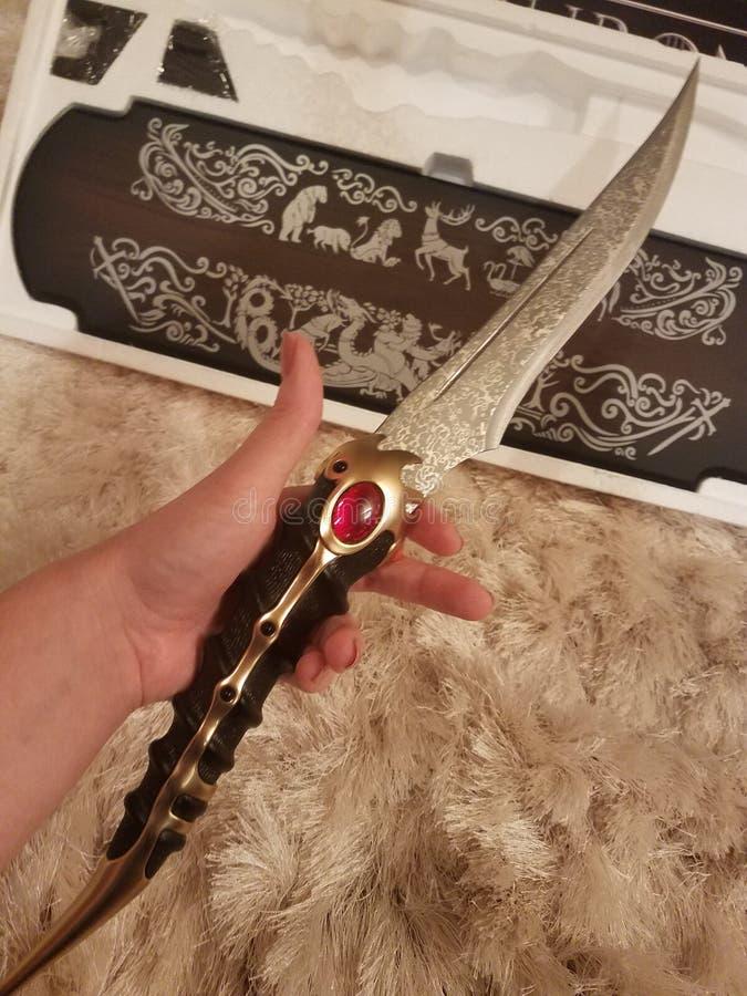 王位匕首比赛  库存图片