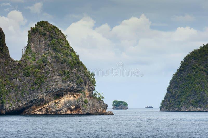 王侯Ampat,西部巴布亚,印度尼西亚 免版税库存照片
