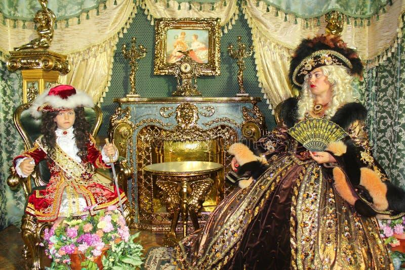 年轻王子和公主 库存图片