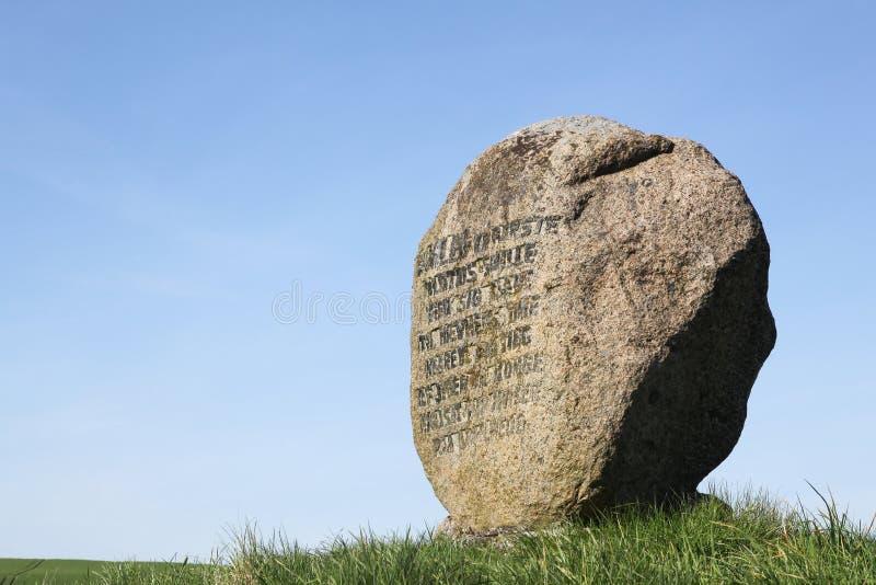 王子哈姆雷特的坟墓在Ammelhede,丹麦 库存照片