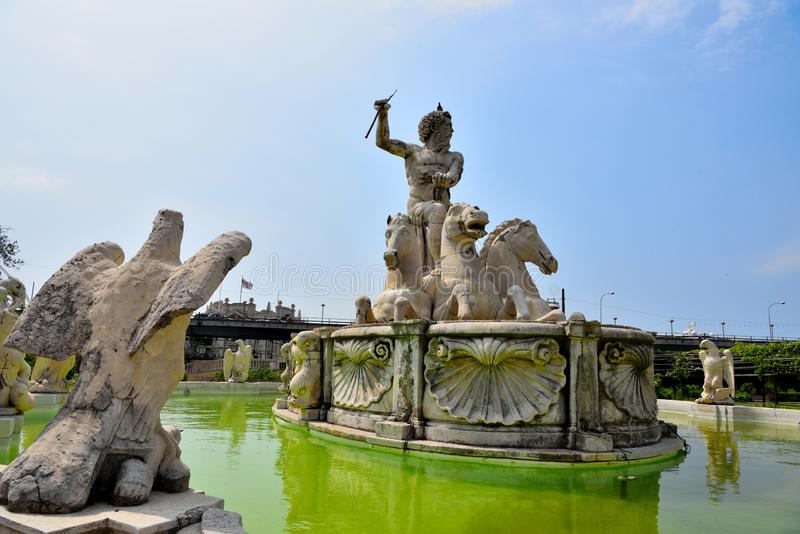 王子的别墅,热那亚,意大利 免版税库存图片