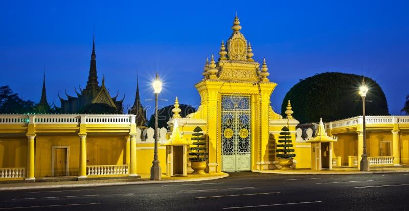 王宫和银塔,金边, No.1吸引力 库存图片
