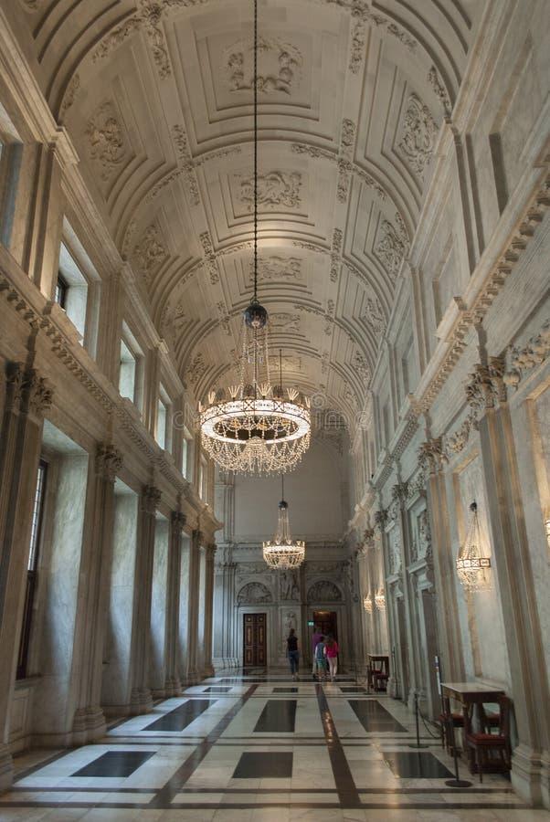 王宫在阿姆斯特丹走廊 库存图片
