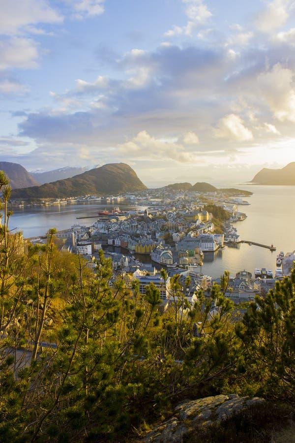 王宫在Alesund,挪威 库存图片