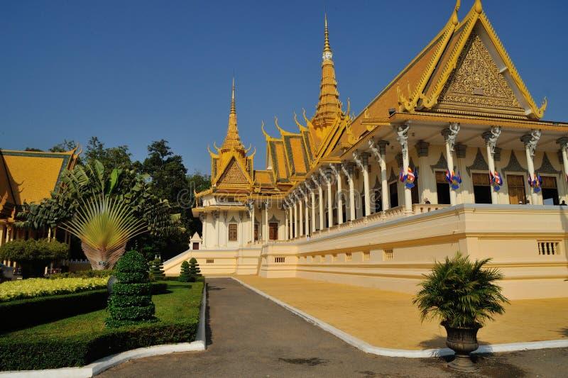 王宫在Pnom Penh 免版税图库摄影