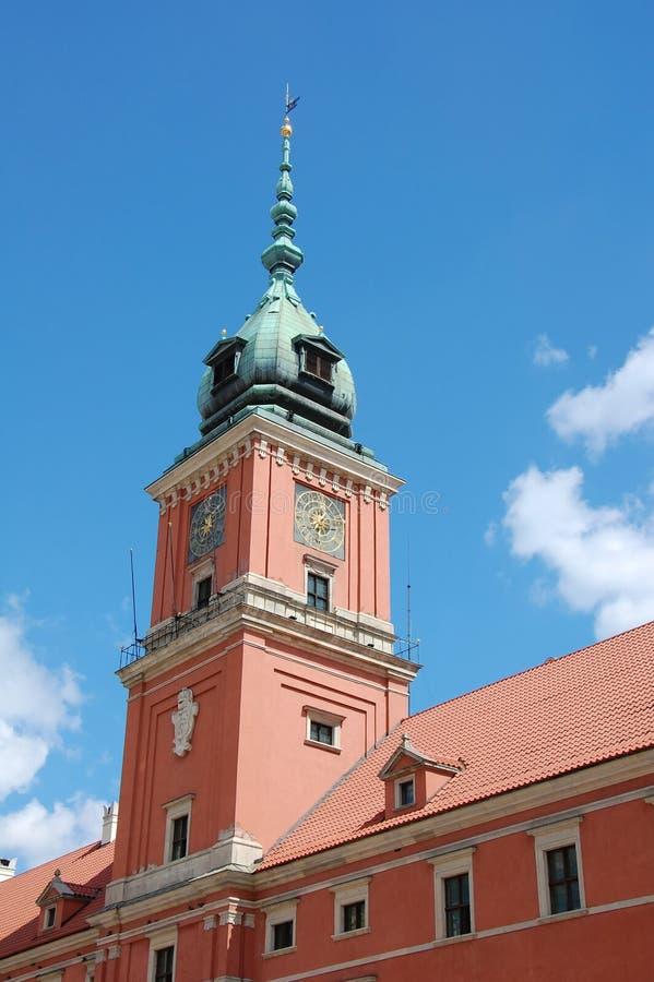 王宫塔在华沙 库存照片