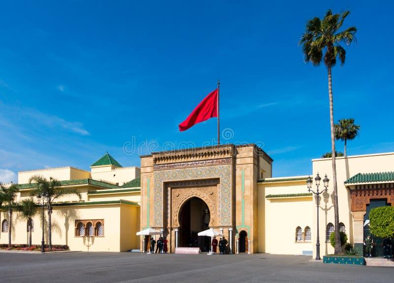 王宫的入口在拉巴特 图库摄影