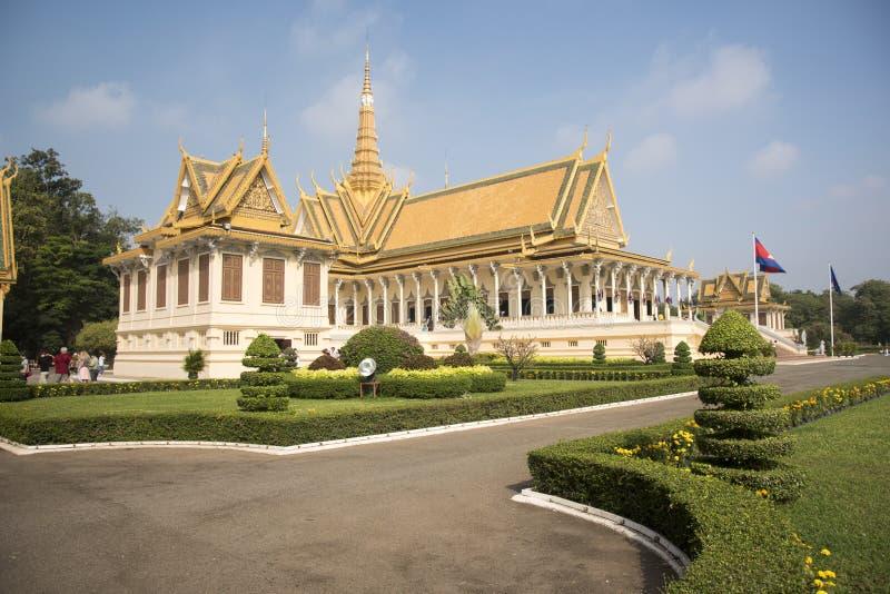 王宫金边柬埔寨 图库摄影