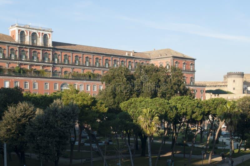 王宫,那不勒斯,褶皱藻属,意大利,欧洲 库存照片