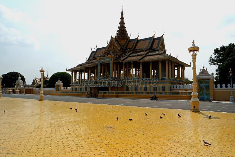 王宫, Phom Penh,柬埔寨 免版税库存图片