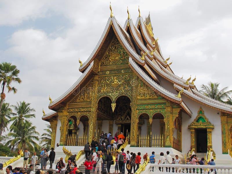 王宫-琅勃拉邦,老挝 图库摄影