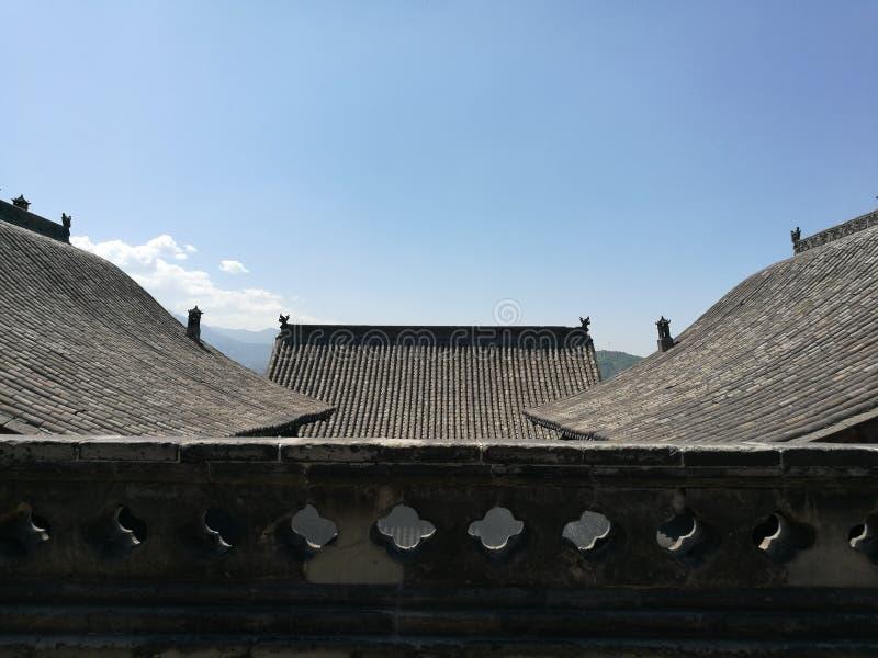王家大院屋顶 图库摄影