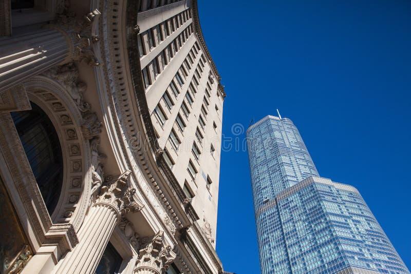 王牌塔在芝加哥。 库存照片