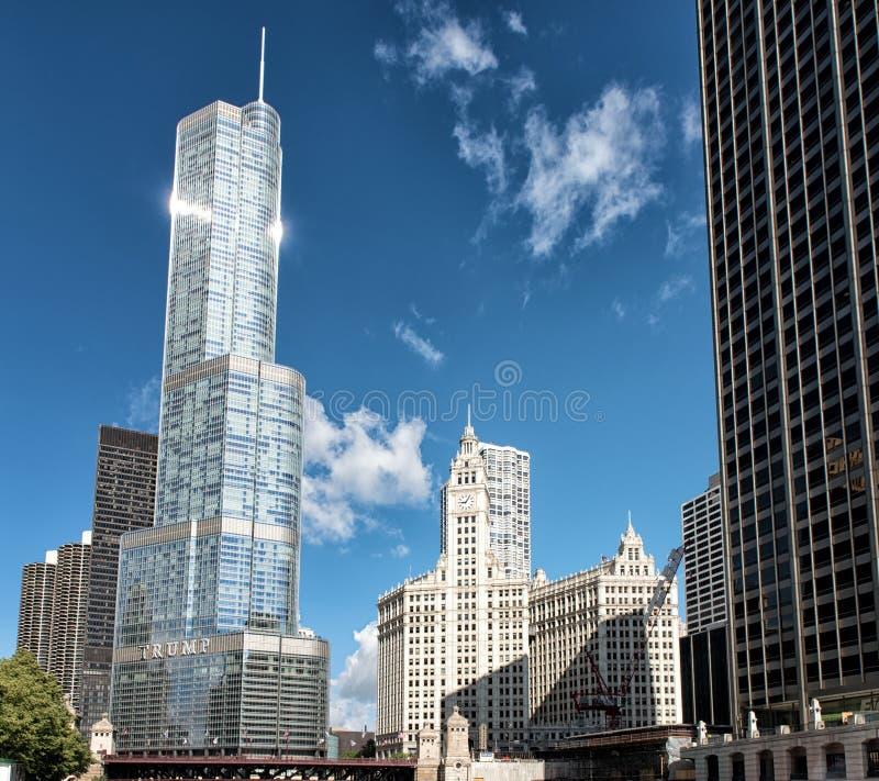 王牌塔在芝加哥伊利诺伊 库存图片