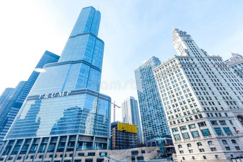 王牌塔大厦在芝加哥 免版税库存照片