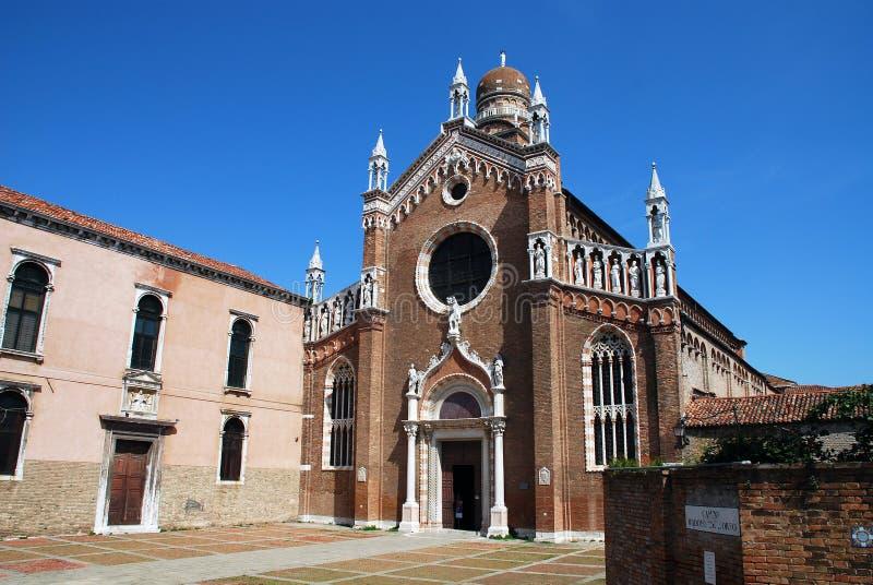 玛丹娜Dell ` Orto教会在威尼斯 免版税图库摄影