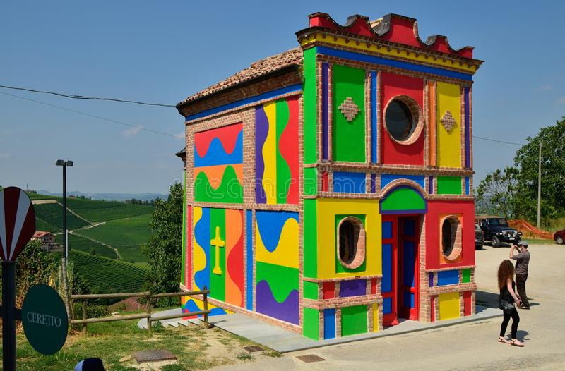 玛丹娜delle格拉奇的教堂 共同多数Cappella del巴罗洛 库存照片