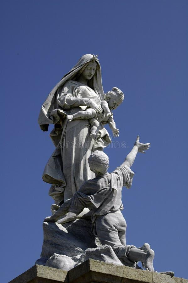 玛丽亚纪念碑 免版税库存照片