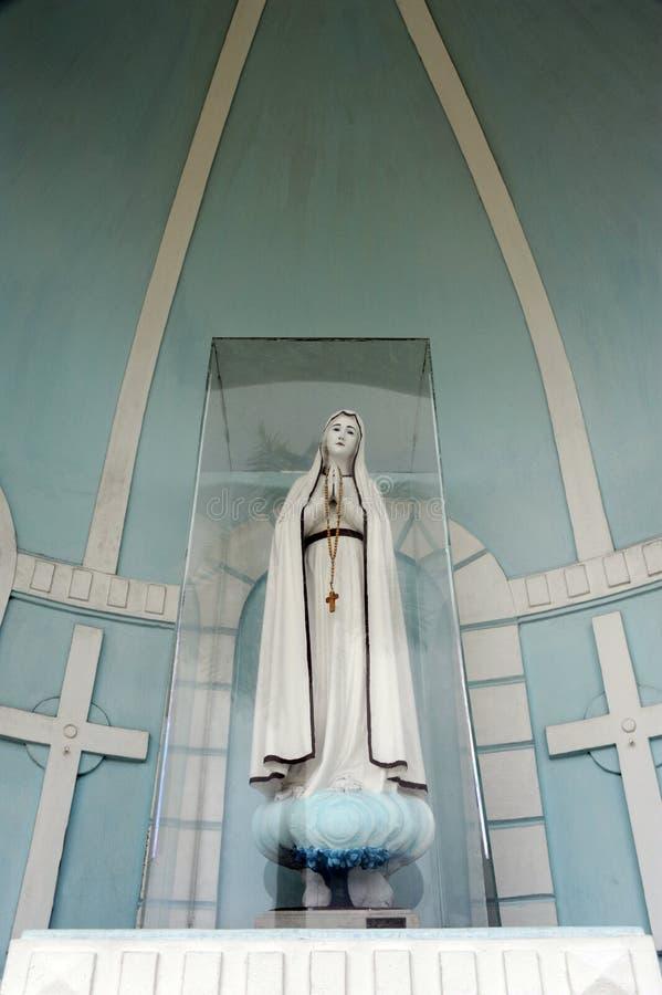 玛丽亚雕象 图库摄影