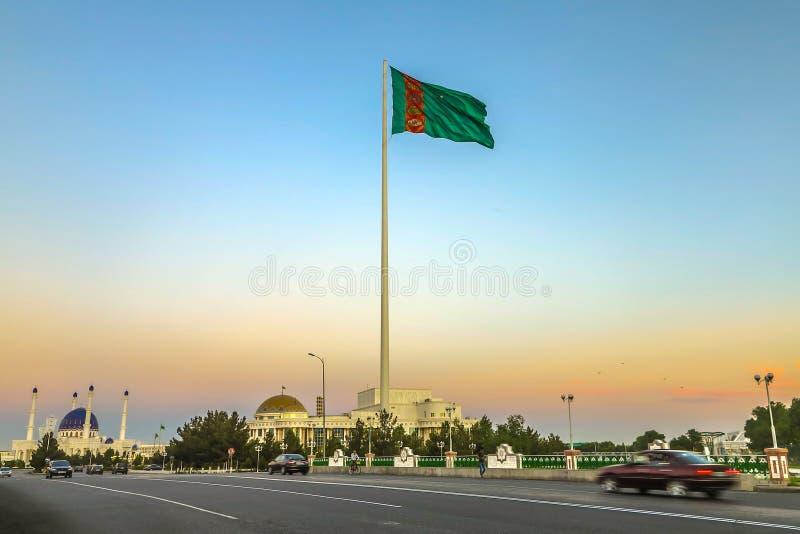 玛丽土库曼斯坦旗子02 免版税库存图片