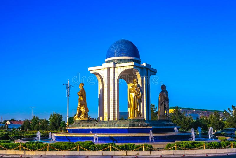 玛丽土库曼斯坦环行路01 库存照片