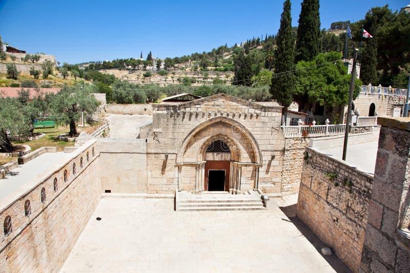 玛丽坟茔在耶路撒冷,以色列。 库存照片