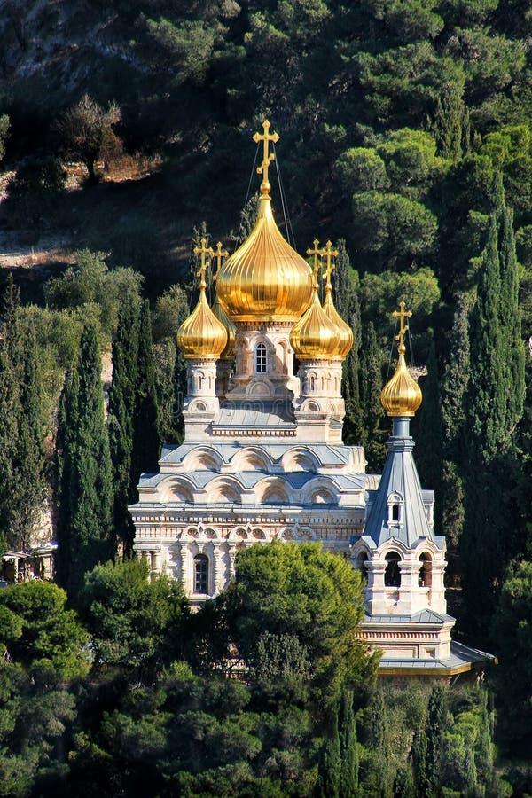 玛丽妓女收容所教会在耶路撒冷,以色列。 免版税库存照片