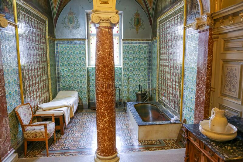 玛丽恩巴德或玛丽安斯克拉兹内Spa酒店的浴室 免版税库存图片
