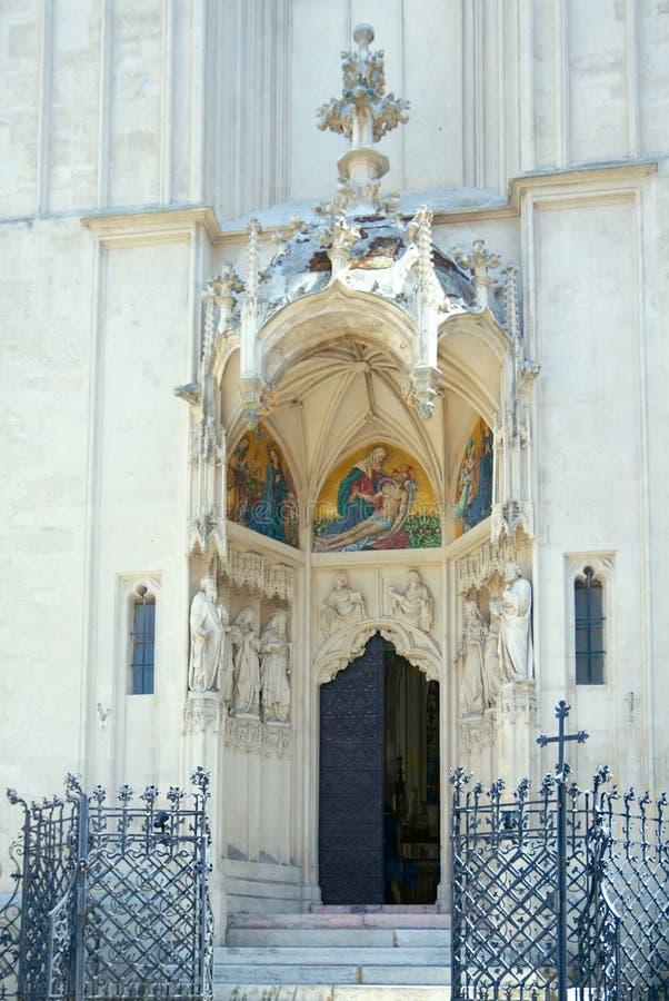 玛丽教会岸的。主要门户。维也纳,奥地利 库存图片