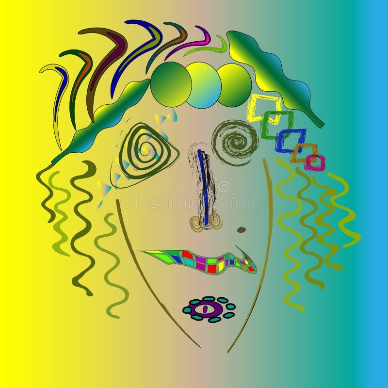 玛丽莲・梦露抽象画象,现代美国妇女60s抽象画象做了仿照suprematism样式 库存例证