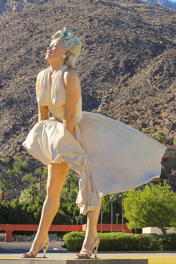 玛丽莲・梦露在棕榈泉 免版税图库摄影