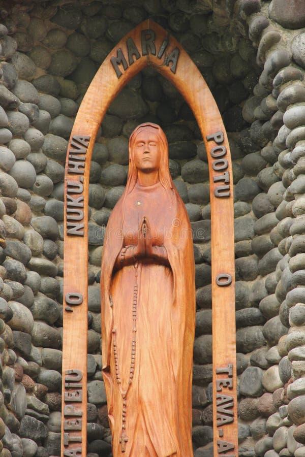 玛丽雕象贞女 图库摄影