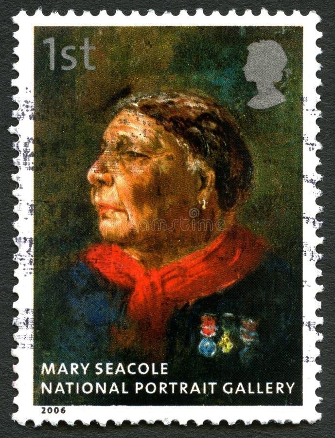 玛丽Seacole英国邮票 库存照片