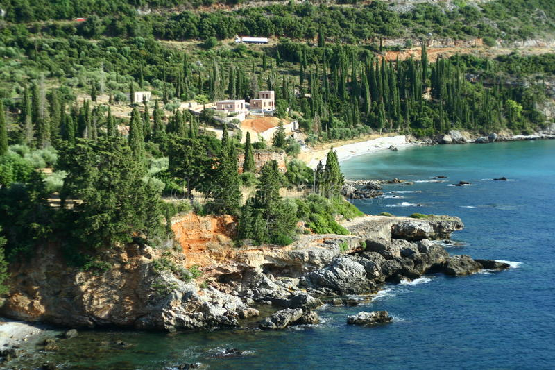 玛尼半岛海岸 免版税图库摄影