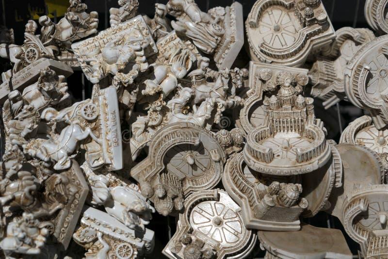玛尼梵蒂冈罗马纪念品待售 免版税库存图片