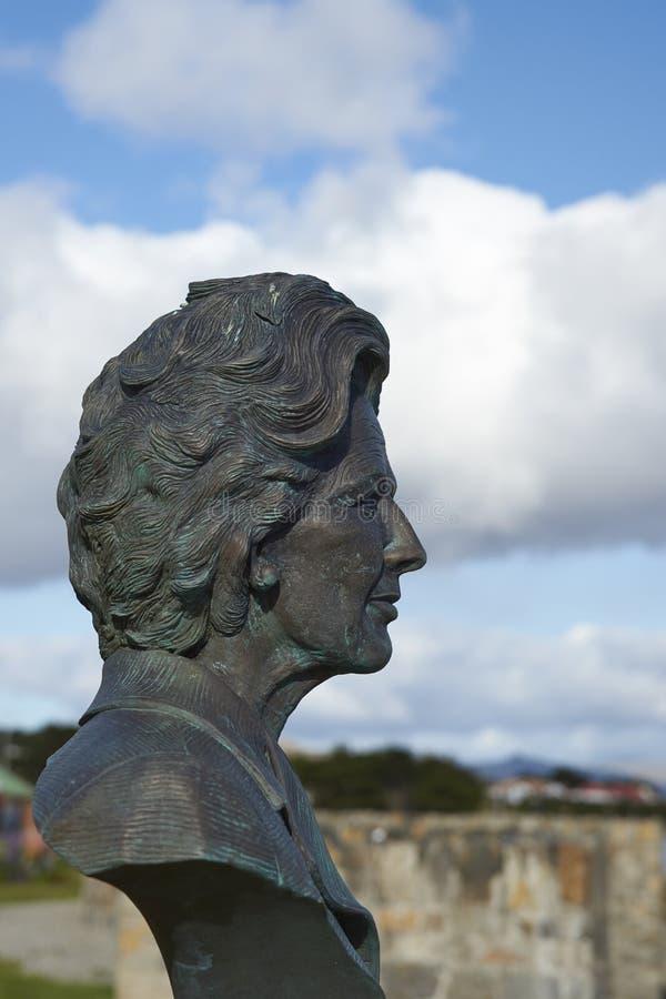 玛格丽特・撒切尔-福克兰群岛雕象  免版税库存图片